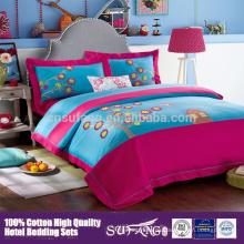 100% Baumwolle Heißer Verkauf Hübscher Kinder Cartoon Bettwäsche Set