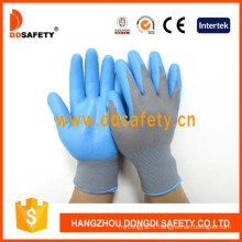 Grey Nylon with Blue Nitrile Glove Dnn817