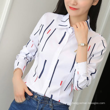 Women Office Tops Lady Blouse Slim Plus Size Casual Shirt