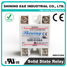 SSR-S10AA 10A 24V Single Phase Solid State Relay Module SSR