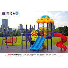 JS06002 Hotsale kids outdoor plastic mushroom playground slide and swing entertainment equipment for sale