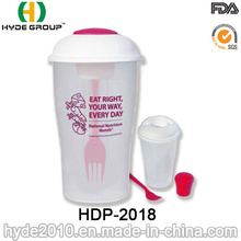 Plastic to Go Salad Container with Fork (HDP-2018)