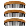 FQ marca logotipo personalizado hogar sándalo cuerno barba peine