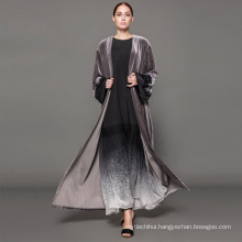 Owner Designer brand oem label manufacturer women Dubai custom Kimono Fashion Front abaya