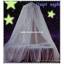 SHUIBAO Mosquiteira de estrelas luminosas suspensas