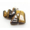 Rhombus Shape Yellow Tiger eye pendant