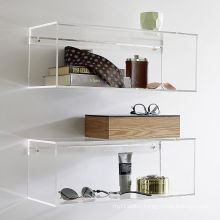 Acrylic Slatwall Storage Shelves for Daily Supplies, Transparent Perspex Shelves