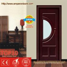 Caliente venta caoba puertas interiores de madera para espacio pequeños