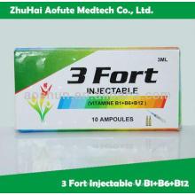 Витамин B1 + B6 + B12 Инъекция GMP Утверждено OEM доступно