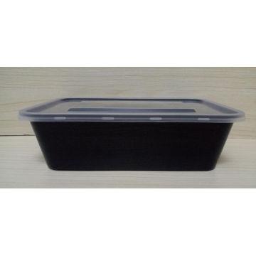 Chine fabricant noir en plastique PP récipient alimentaire jetable