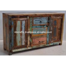 Buffet interieur en éthylène recyclé en bois