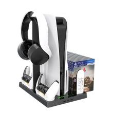 Suporte vertical com suporte para fone de ouvido para PS5