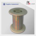 35 micron ouro holográfico fio metálico para vestuário