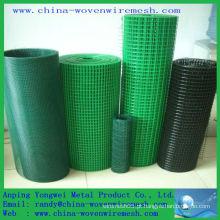 PVC revestido malha de arame de ferro quadrado /, pvc revestido de malha de arame soldado (China alibaba)