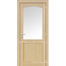 Puerta interior de MDF con vidrio de arco redondo