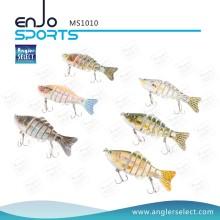 Angler Select Multi Jointed Fishing Life-Like Lure Bass Bait Swimbait Shallow Fishing Tackle Fishing Lures (MS1010)