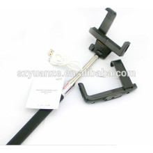 2015 HOT SALE selfie stick bluetooth monopod with zoom function, monopod selfie-stick