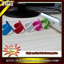 2014 mini coloré personnalisé imprimé Touch-u silicone souple titulaire de téléphone de l'usine de porcelaine
