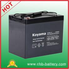 Batterie électrique 85ah de bateau de gel de cycle profond de 12V