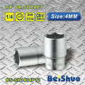 "6 Point 1/4""Drive Shallow Socket with Matt/Mirror Finished"