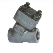 Válvula de retención de acero forjado tipo Y