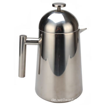 French Press Kaffeemaschine aus 100% Edelstahl