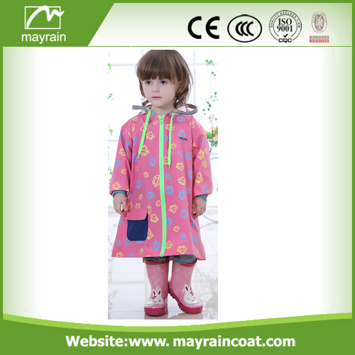 Girls PVC Rainsuit With Logo