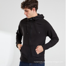 New Arrival Hot Sale French Terry Stretchable Zip Up Men's Hoodie Sweater