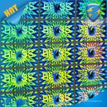 Etiqueta engomada autoadhesiva holográfica / etiquetas engomadas de encargo del holograma del holograma / etiqueta de lasers del holograma