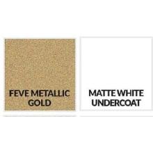 Hoja de aluminio dorado metálico