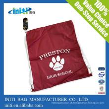 Promocional personalizado impermeável nylon saco drawstring com preço de fábrica