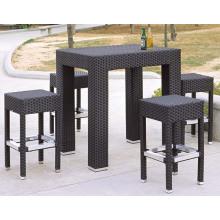 Outdoor Furniture PE Rattan Bar Stool Bar Table
