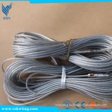 SS304 6X19 + IWRC 5mm Cuerda de alambre de acero inoxidable no magnético
