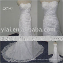 2011 latest elegant drop shipping freight free meimaid style beaded sweethart neckline mermaid lace bridal wedding dress JJ2363
