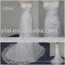 2011 mais recente gota elegante frete frete grátis meimaid estilo frisado sweethart decote mermaid laço vestido de casamento nupcial JJ2363