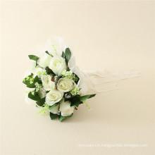 Fabrication de fleurs en plastique de prix bas, fleurs en plastique d'usine avec le prix le meilleur marché, fleurs en plastique avec MOQ 10pcs