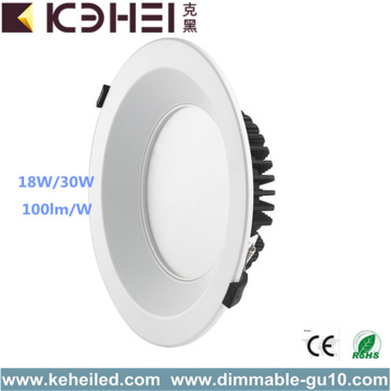 Downlights changeants de chrome de satin LED 8 pouces