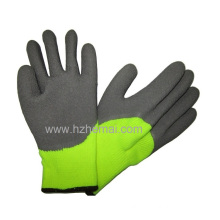 Half Dipped Thermal Latex Gloves Fluorescent Yellow Safety Work Glove