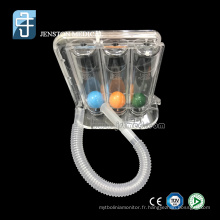 Spiromètre médical à trois balles pour entraîneur de respiration