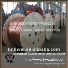 Bare copper grounding wire