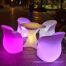 moderne mobilier led luminaire portatif led table batterie rechargeable incandescent actionnée led bar table