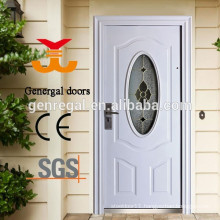 European style classic entrance doors with glass