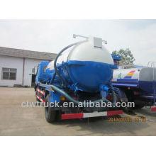 Dongfeng 4x2 camión de succión de aguas residuales, 6000L bomba de camiones de vacío de aguas residuales
