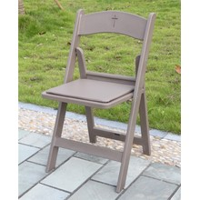 Brown Padded Resin Folding Chair