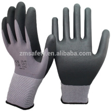 15 Gauge Seamless Knit Nylon Spandex Micro Foam Nitrile Gloves For Industrial Safety Work