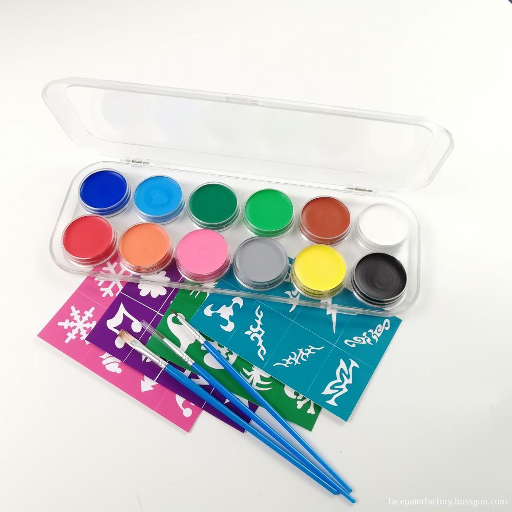 12 Colors Face Paint 2