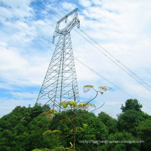 220 kV Single Circuit Owl-Type Angle Power Transmission Steel Tower