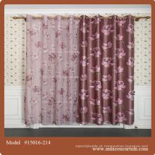 Alta qualidade de vida coral impresso blackout cortina tecido