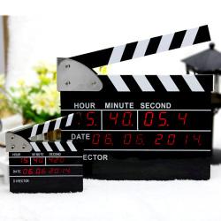 Original Design The Movie Clap Digital Clock