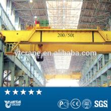 Engineers service QD type double beams workshop bridge cranes 250 ton